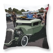 Car Show Coupe Throw Pillow by Steve McKinzie