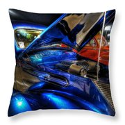 Car Show Throw Pillow