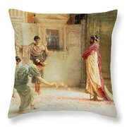 Caracalla Throw Pillow by Sir Lawrence Alma-Tadema