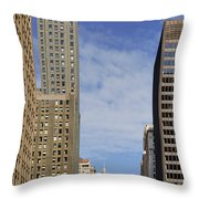 Carbide And Carbon And Wrigley Building - Two Chicago Classics Throw Pillow