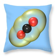 Carbon Dioxide On Blue Throw Pillow