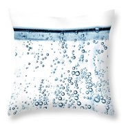 Carbonated Water Throw Pillow by Photo Researchers, Inc.