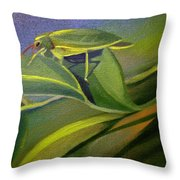 Card Of Fancy Bug Throw Pillow