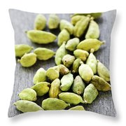 Cardamom Seed Pods Throw Pillow