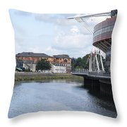 Cardiff In Wales Throw Pillow