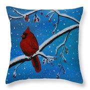 Cardinal Christmas Throw Pillow