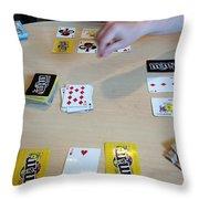 Cards Throw Pillow