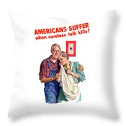 Careless Talk Kills -- Ww2 Propaganda Throw Pillow