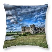 Carew Castle Pembrokeshire 3 Throw Pillow