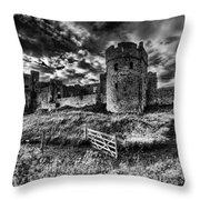 Carew Castle Pembrokeshire 4 Mono Throw Pillow