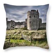 Carew Castle Pembrokeshire Long Exposure 2 Throw Pillow