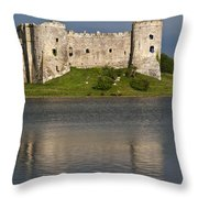 Carew Castle Reflections Throw Pillow