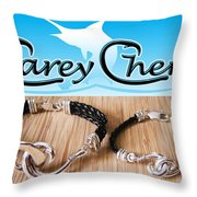 Carey Chen Jewelry Throw Pillow