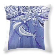 Carey Chen Mens Marlin Shirt Throw Pillow