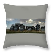 Carhenge Throw Pillow