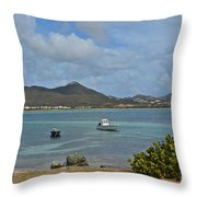 Caribbean Cove Throw Pillow