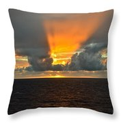 Caribbean Fireworks Throw Pillow