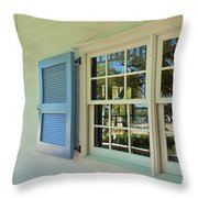 Caribbean Reflective Window Throw Pillow