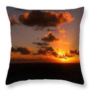 Caribbean Sunset Throw Pillow