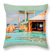 Caribbean-turks And Caicos Sandals Throw Pillow