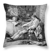 Carl Linnaeus, Swedish Botanist Throw Pillow