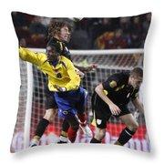 Carles Puyol Jumping Throw Pillow