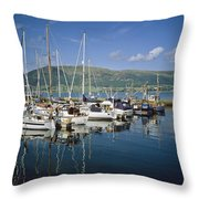 Carlingford Yacht Marina, Co Louth Throw Pillow