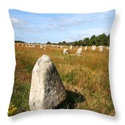 Carnac Standing Stones Throw Pillow