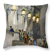Carnegie Hall, 1891 Throw Pillow