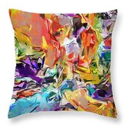 Carnival Abstract 082512 Throw Pillow