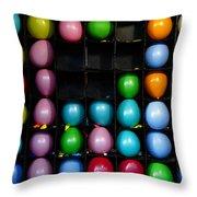 Carnival Balloons Throw Pillow