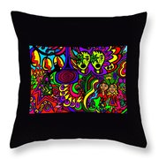 Carnival Day Throw Pillow
