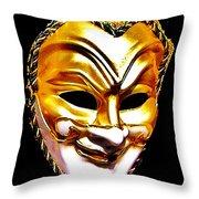 Carnival Mask 2 Throw Pillow