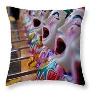 Carnival Of Clowns Throw Pillow