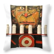 Carny With Type Poster Throw Pillow