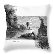 Carolina Settlement Throw Pillow
