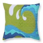Carolina Wave Throw Pillow