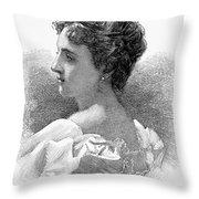 Caroline Lavinia Harrison Throw Pillow by Granger