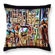Carousel 7 - Fractals Throw Pillow