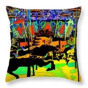 Carousel Colors Throw Pillow