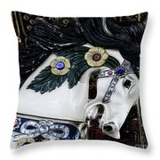 Carousel Horse - 9 Throw Pillow by Paul Ward