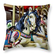 Carousel Horse 2 Throw Pillow by Paul Ward