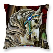 Carousel Horse 3 Throw Pillow by Paul Ward