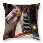 Carousel Horses Throw Pillow