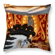 Carousel In Motion Throw Pillow