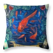 Carpe Vinum Throw Pillow
