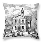 Carpenters Hall, 1855 Throw Pillow