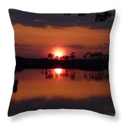 Carrabelle Sunset Throw Pillow