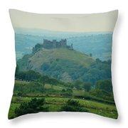 Carreg Cennen Castle Throw Pillow