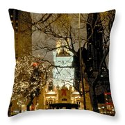 Carriage At The Water Tower Throw Pillow